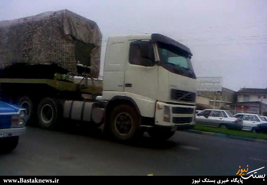 محموله S300 به ایران رسید/تصاویر حمل تجهیزات و ادوات این موشک در خیابان