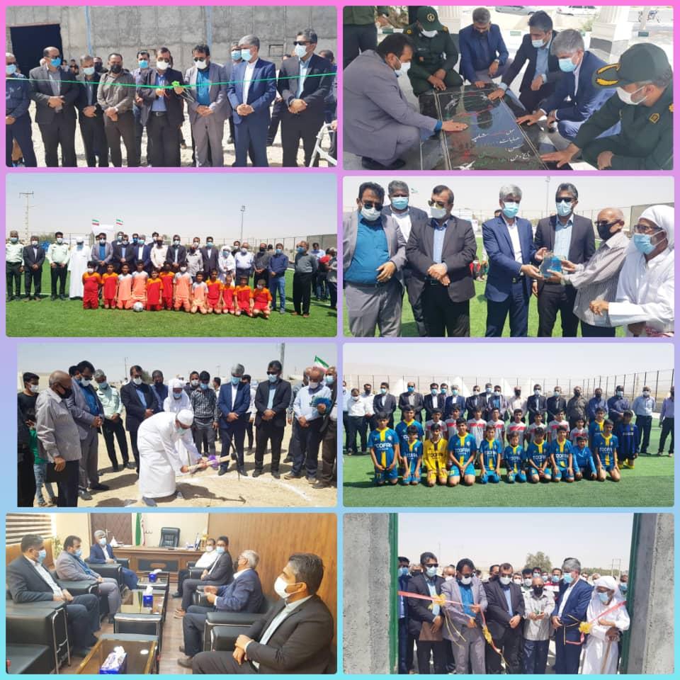 افتتاح و کلنگ زنی ۵ پروژه عمرانی در شهرستان بستک