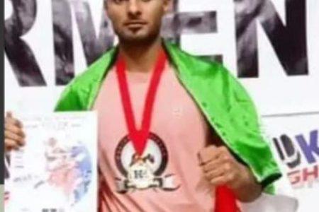 «یعقوب باشنده» ورزشکار هرنگی موفق به کسب مدال طلای مسابقات بین المللی کنگ فو آزاد کشور ارمنستان شد