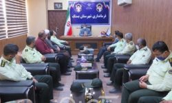 فرمانده و پرسنل نیروی انتظامی بستک با فرماندار شهرستان دیدار کردند
